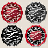 Original American Bacon Seal / Badge Royalty Free Stock Photo