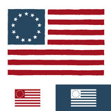 Original American flag design Royalty Free Stock Photography