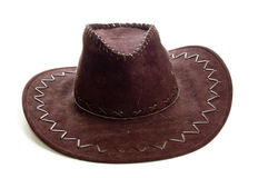 Original american leather cowboy hat Stock Photography