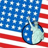 Original American patriot flag. Design of original American patriot flag Stock Photo