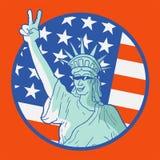 Original- amerikanskt emblem Royaltyfri Fotografi