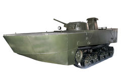 Original amphibious tank Stock Photos