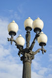 Original ancient city street lamp Royalty Free Stock Image