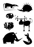 Original animal silhouettes Royalty Free Stock Photos