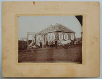 Original antique photo of an old house Royalty Free Stock Images