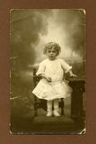 Original antique photo - young girl