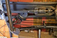 Original antique Tram& x27;s gear July stock photography