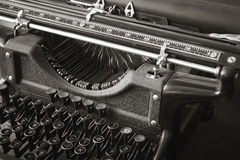Original antique typewriter in black and white Royalty Free Stock Photography