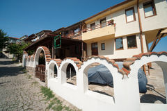 The original architecture of the old Sozopol in Bulgaria Royalty Free Stock Photography