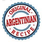 Original- argentinian recepttecken eller stämpel stock illustrationer