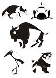 Original art animal silhouettes Stock Photo