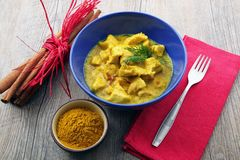 Asian curry Chicken dish stock images