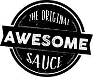 The Original Awesome Sauce Stamp, Vector Seal. Black the original awesome sauce stamp, vector seal Stock Photo