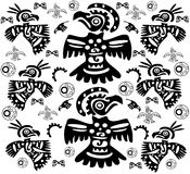 The original background with birds tattoos. The original black-and-white background with birds tattoos royalty free stock photography