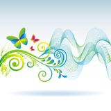 Original background with butterfly. Royalty Free Stock Photos