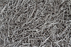 Original background from metallic small nails Stock Photo