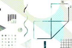 Original background with simple geometric shapes. Bright modern stylish original background with simple geometric shapes. Perfect for design and website vector illustration