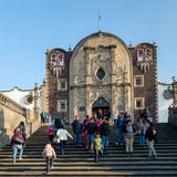 The original Basilica of Our Lady of Guadalupe in Mexico City. MEXICO CITY,MEXICO - DECEMBER 27,2016 :The original Basilica of Our Lady of Guadalupe now known as royalty free stock photography