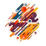 Vector beautiful combination of modern style abstraction with composition of various round shapes in real color palette. Original beautiful combination of modern Stock Image