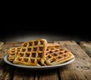 Original Belgian waffles Royalty Free Stock Image