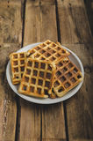 Original Belgian waffles Royalty Free Stock Photography