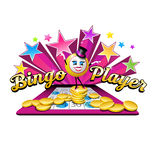 Original bingo illustration logo design Royalty Free Stock Image