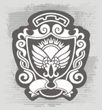 Original  blazon. Image of the blazon with wings Stock Images
