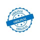 Original stamp illustration. Original blue stamp seal illustration design Stock Photo