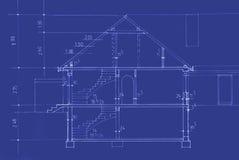 Original Blueprint Stock Image