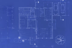 Original Blueprint. Blueprint of my own house - beautiful background image Royalty Free Stock Photos