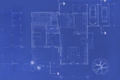 Original Blueprint. Blueprint of my own house - beautiful background image Royalty Free Stock Photos