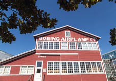 Original Boeing airplane building Stock Photo