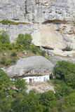 Original- boende i bergen av den Crimean halvön Arkivfoton