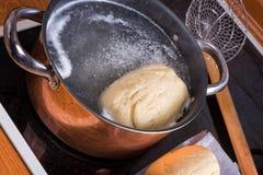 Original Bohemian dumplings preparation. Royalty Free Stock Images