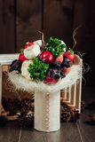 Original bouquet of vegetables and fruits Royalty Free Stock Photo