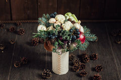 Original bouquet of vegetables and fruits Stock Images