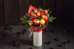 Original bouquet of vegetables and fruits Royalty Free Stock Photography