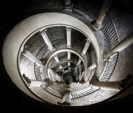 The Original Bramante Staircase. The original double helix staircase designed by Bramante in 1505, located at The Vatican, Rome royalty free stock photos