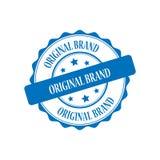 Original brand stamp illustration. Original brand blue stamp seal illustration design Stock Image