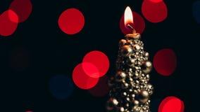 Original- brand för julstearinljusuppsättning till en match lager videofilmer