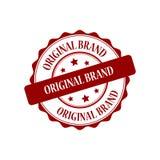 Original brand stamp illustration. Original brand red stamp seal illustration design Royalty Free Stock Images