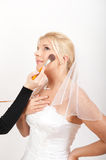 Original bridal make-up on beautiful young bride Stock Photos