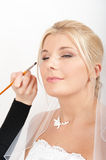 Original bridal make-up on beautiful young bride Stock Photo
