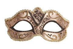 The original bronze festive carnival mask  Stock Image