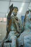 Original bronze statue of Emperor Marcus Aurelius Royalty Free Stock Photography