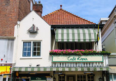 Original building design of cafe Koper in Zandvoort. Stock Photo