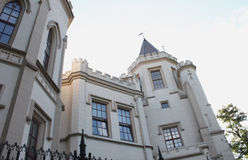Original building with turrets, Odessa. Beautiful building in the center of Odessa, Ukraine Royalty Free Stock Photography