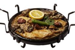 Original bulgarian hot plate satch. Izolated background Stock Photos