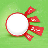 Original button new year Royalty Free Stock Photo