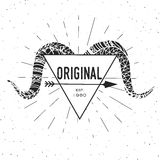 Original - calibre de label avec la tête de la RAM illustration stock